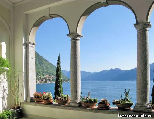 фотообои вид из окна балкона: